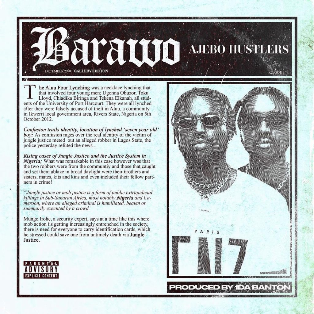 Ajebo Hustlers Barawo Lyrics