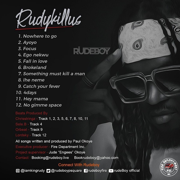 Rudeboy Rudykillus Album Lyrics Tracklist